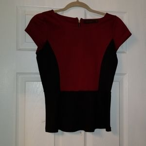 The Limited two tone peplum blouse